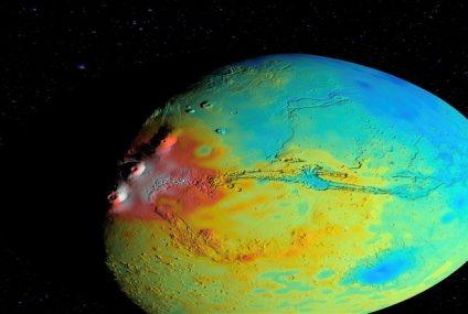 NASA, Mars'ın Tortul Yoğunluğunun Haritasını Çıkardı!